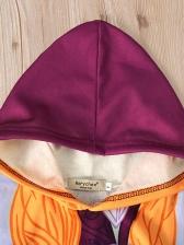 Cartoon Printed Hooded Night-Robe Girls Coats