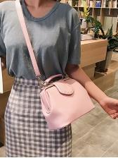 Simple Style Solid Pu Detachable Belt Shoulder Bag