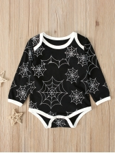 Lovely SpiderWeb Printed Baby Boy Rompers