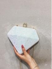 Chic Diamond Shape Glitter Sequined Thin Chain Bag