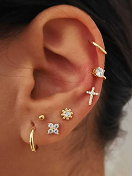 Rhinestone Cross Earrings 7 Piece Set
