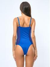 Sexy Gauze Panel Perspective Straps Bodysuit