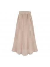 Easy Matching Chiffon Pleated Elastic Fly Skirt