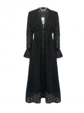 Boutique Deep V Neck Solid Evening Maxi Dress