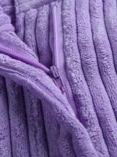 Sexy Purple Mini Corduroy Skirt