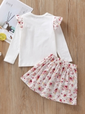 Fly Wings Contrast Color Baby Girl Sets
