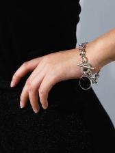 Simple Geometric Round Chain Bracelet