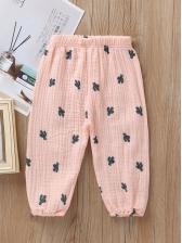 Fashion Plants Printed Pants For Kids