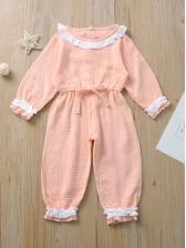 Stylish StringySelvedgeContrast Color Baby Sleepsuits