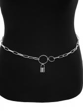 Simple Design Lock Geometry Chain Belt