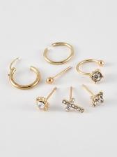 Rhinestone Cross Earrings 7 Piece Set
