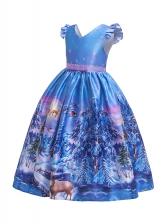Christmas Pattern Fly Wings Flower Girl Dresses