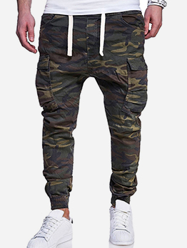 Leisure Camouflage Drawstrings Male Pants