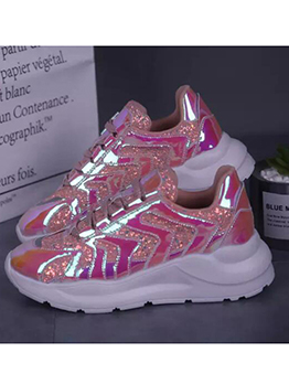 Colorful Hologram Sport Ladies Running Shoes