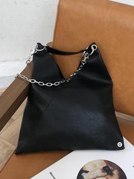 Minimalist Large Black Chain Crossbody Shoulder Bag