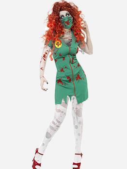 Halloween V Neck Short Dress Bloody Female Devil Costume