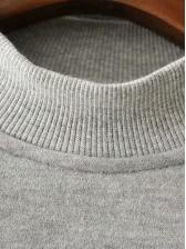 Mock Neck Embroidery Thicker Sweatshirt Dress