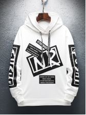 Fashion Number Letter Printed Boys Hoodies