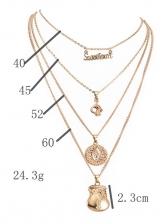 Letter Purse Multi-Layer Pendant Necklace