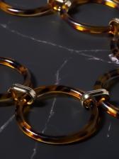 Vintage Leopard Printed Circle Chain Belt