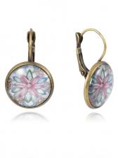 Vintage Geometric Flower Earrings For Women