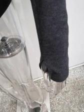 Mock Neck Hole Long Sleeve Bodysuit