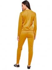 Solid Long Sleeve Leisure 2 Piece Pants Sst