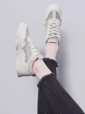 Bear Sole Solid Sneakers For Girls