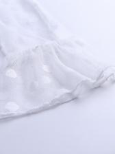 Dot Chiffon Ruffled Cropped Tube Top