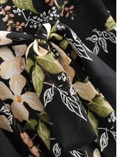 Slim Tie-Wrap v Neck Slit Midi Dress