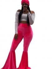 High Waist Velvet Flare Pants