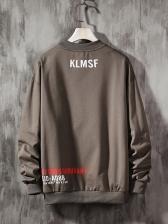 Creative Letter Printed Pullover Sweatshirt