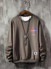 Casual MapleLeaf Printed Mens Sweatshirts