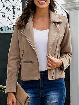 Winter Cool Zipper Short Jacket