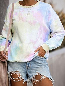 Casual Tie Dye Hoodies For Women