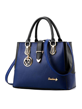 Stitching Color Large Capacity Handbags For Ladies