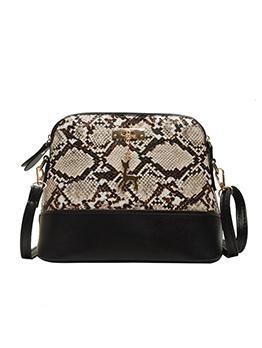 Snake Printed Patchwork Skinny Belt Crossbody Bags