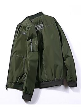 Winter Contrast Color Men Bomber Jacket