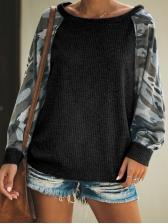 Patchwork Camouflage Sweatshirts For Women
