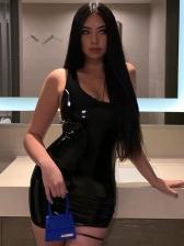 Sexy One Shoulder Pu One Piece Dress
