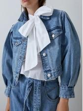 Fashion Single Breasted Short Denim Jacket