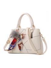 Silk Scarf Decor Sewing Thread Handbags For Women