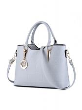 Minimalist Solid Pu Large Handbags For Office Ladies
