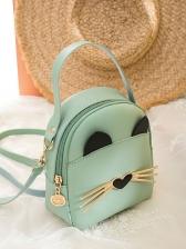 Cute Style Cat Design Women Mini Crossbody Bags
