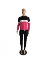 Contrast Color Side Stripe Ladies Sportswear