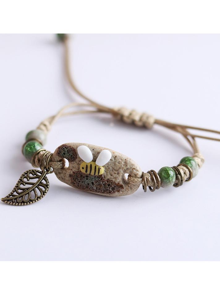 Cute Bee Leaf Bracelets For Women