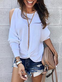 Casual Off Shoulder Sweater Hoodie