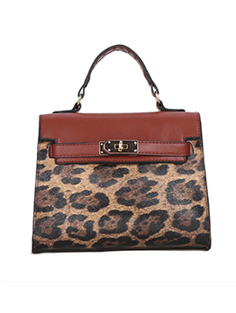 Retro Leopard Printed Crossbody Shoulder Bag