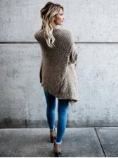 Irregular Long Cashmere Cardigan Coat