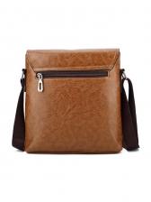 Vintage Style Solid Messenger Bags For Men